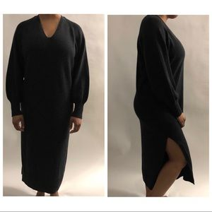 4cb8330f08de1 Vince Dresses | Side Slit Wool And Cashmere V Neck Dress S | Poshmark